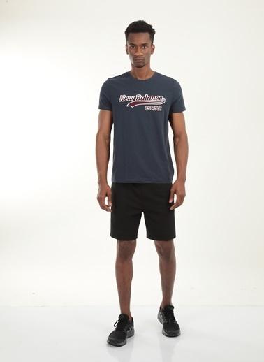 New Balance Erkek New Balance  Logo Tişört MPT027-AVISIYAH Renkli